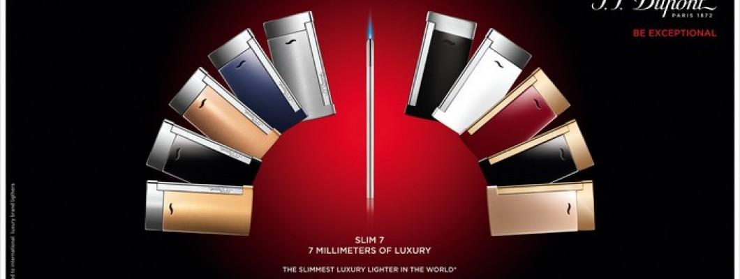 Un design revolutionar in lumea luxului, brichetele S.T. Dupont Slim 7