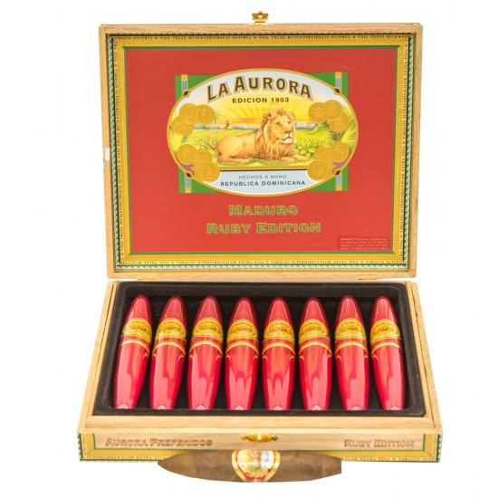 Trabucuri La Aurora 1903 Double Figurado Ruby Tubos (8)