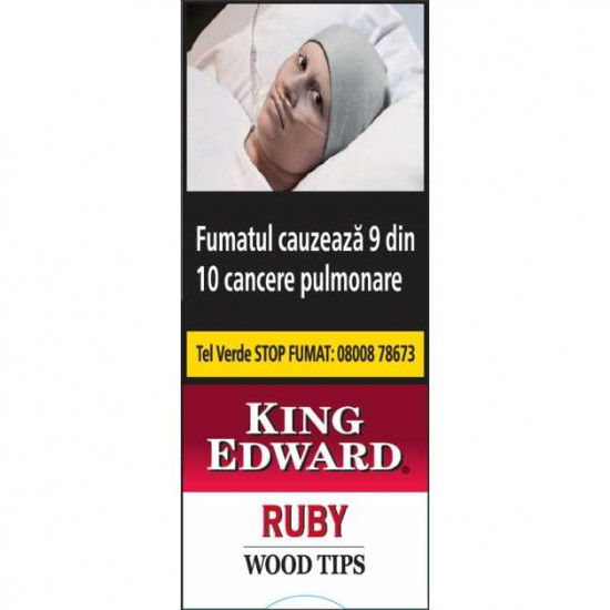 Tigari de Foi King Edward Wood Tips Ruby (5)