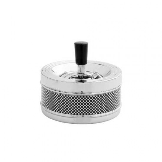 Scrumiera Angelo Spin Ashtray (black&white dots)