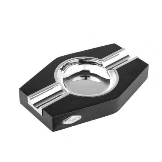 Scrumiera Angelo Cigar Ashtray 2CT (black/chrome)