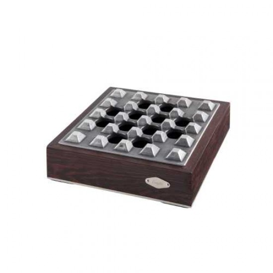Scrumiera Angelo Ashtray (brown/chrome)