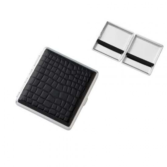 Angelo Cigarette Case (croc black) 20pcs