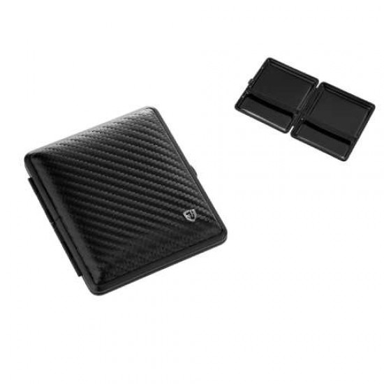 Cigarette Case (black leather) 20pcs