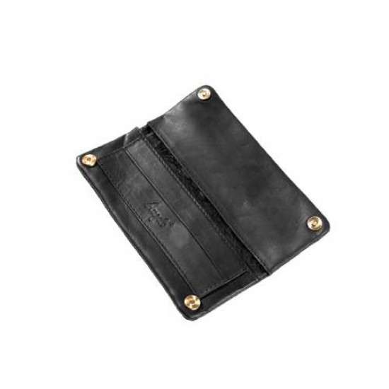 Angelo RYO pouch (leather black) 15cm