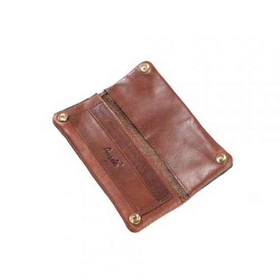 Angelo RYO pouch (leather brown) 15cm