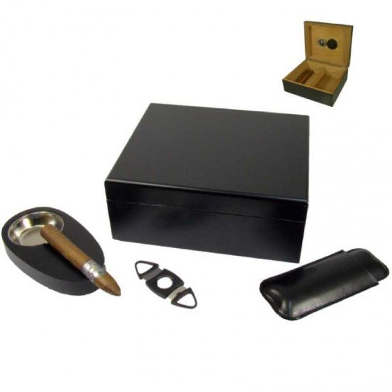 Set Humidor Angelo (black)