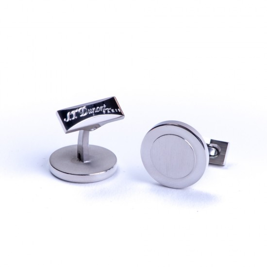 Butoni Round Silver Plated&Rhodium