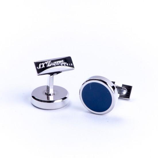 Butoni Round Palladium Blue Lacquer