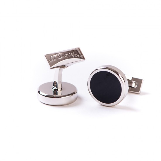 Butoni Round Palladium Black Lacquer