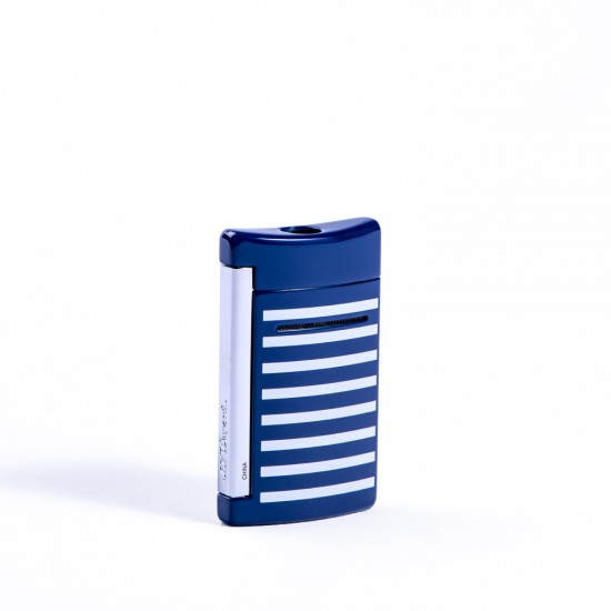 Bricheta S.T. Dupont Minijet Navy Blue White Stripes