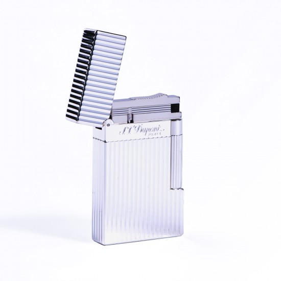 Bricheta S.T. Dupont L2 Silver Plated Vertical Lines