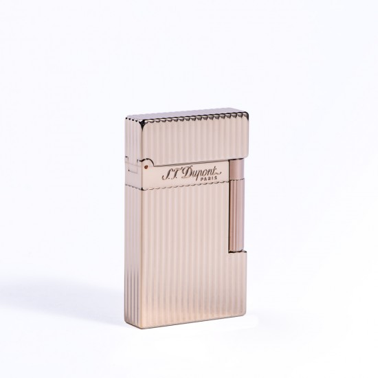 Bricheta S.T. Dupont L2 Gold Plated Vertical Lines
