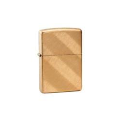 Bricheta Zippo Brass Diagonal Weave