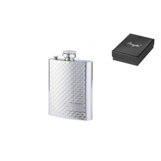 Angelo Flask Chrome Pattern 4oz