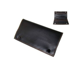 Angelo RYO pouch (black leather) 16x9 cm
